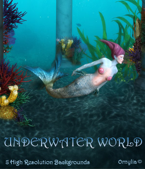 Underwater world 2D Graphics ornylia