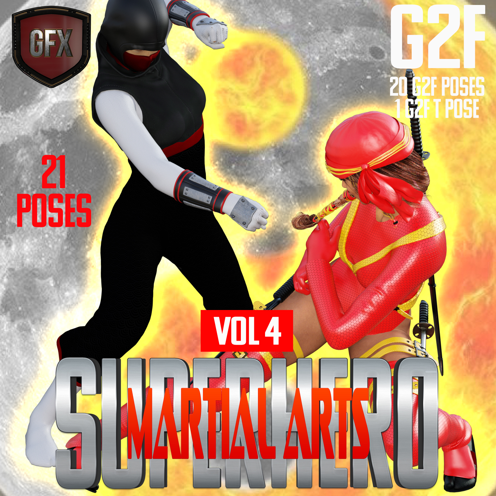 SuperHero Martial Arts for G2F Volume 4 by GriffinFX