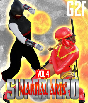 SuperHero Martial Arts for G2F Volume 4 3D Figure Assets GriffinFX