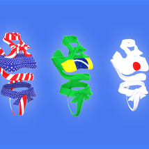 Flags and Colors for Ribbon Outfit - Pack 1 image 2