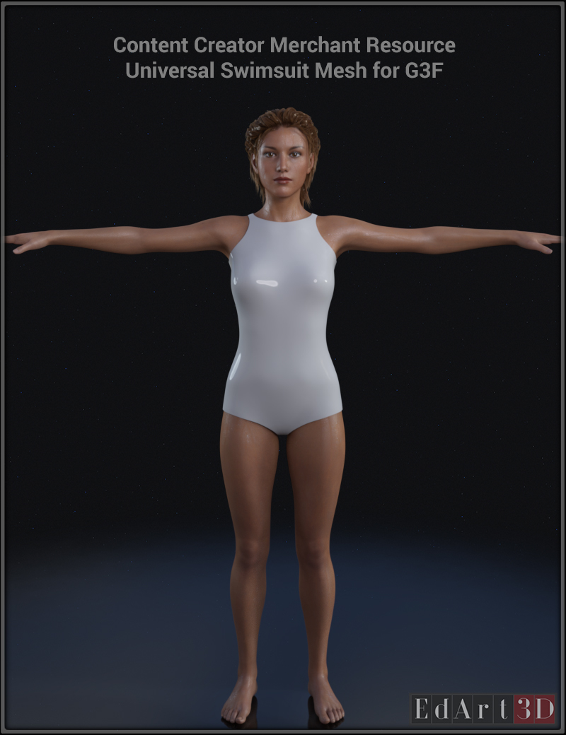 Universal Swimsuit Mesh for G3F - Content Creator MR