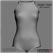 Universal Swimsuit Mesh for G3F - Content Creator MR image 1