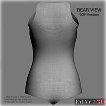 Universal Swimsuit Mesh for G3F - Content Creator MR image 2