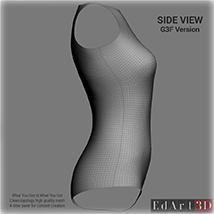 Universal Swimsuit Mesh for G3F - Content Creator MR image 3