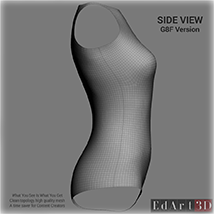 Universal Swimsuit Mesh for G8F - Content Creator MR image 3
