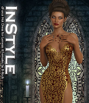 InStyle - dForce Hot Dress for Genesis 8 Females 3D Figure Assets -Valkyrie-
