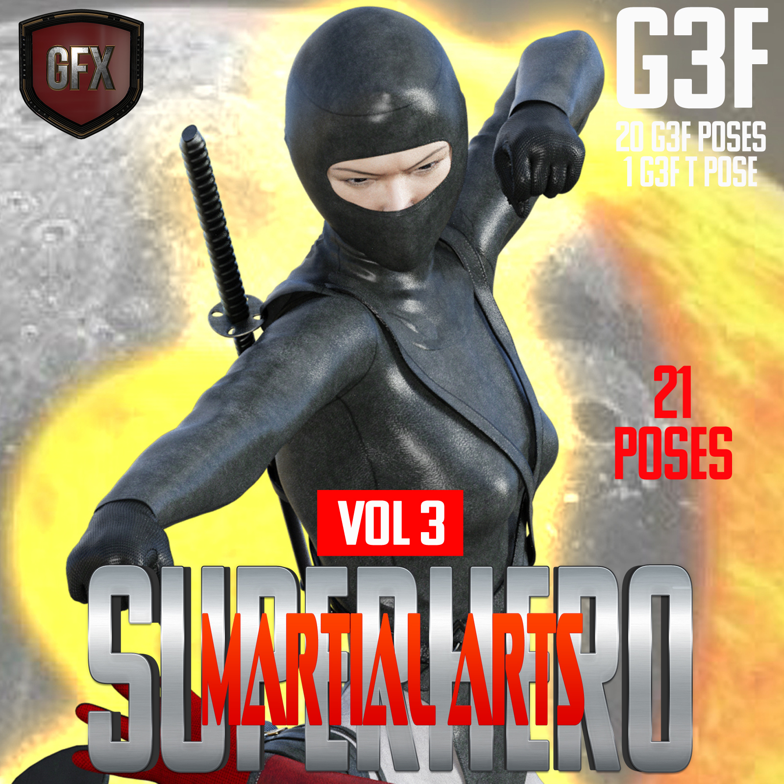 SuperHero Martial Arts for G3F Volume 3 by GriffinFX