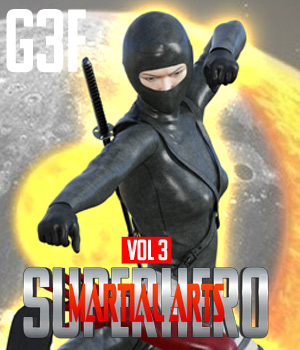 SuperHero Martial Arts for G3F Volume 3 3D Figure Assets GriffinFX