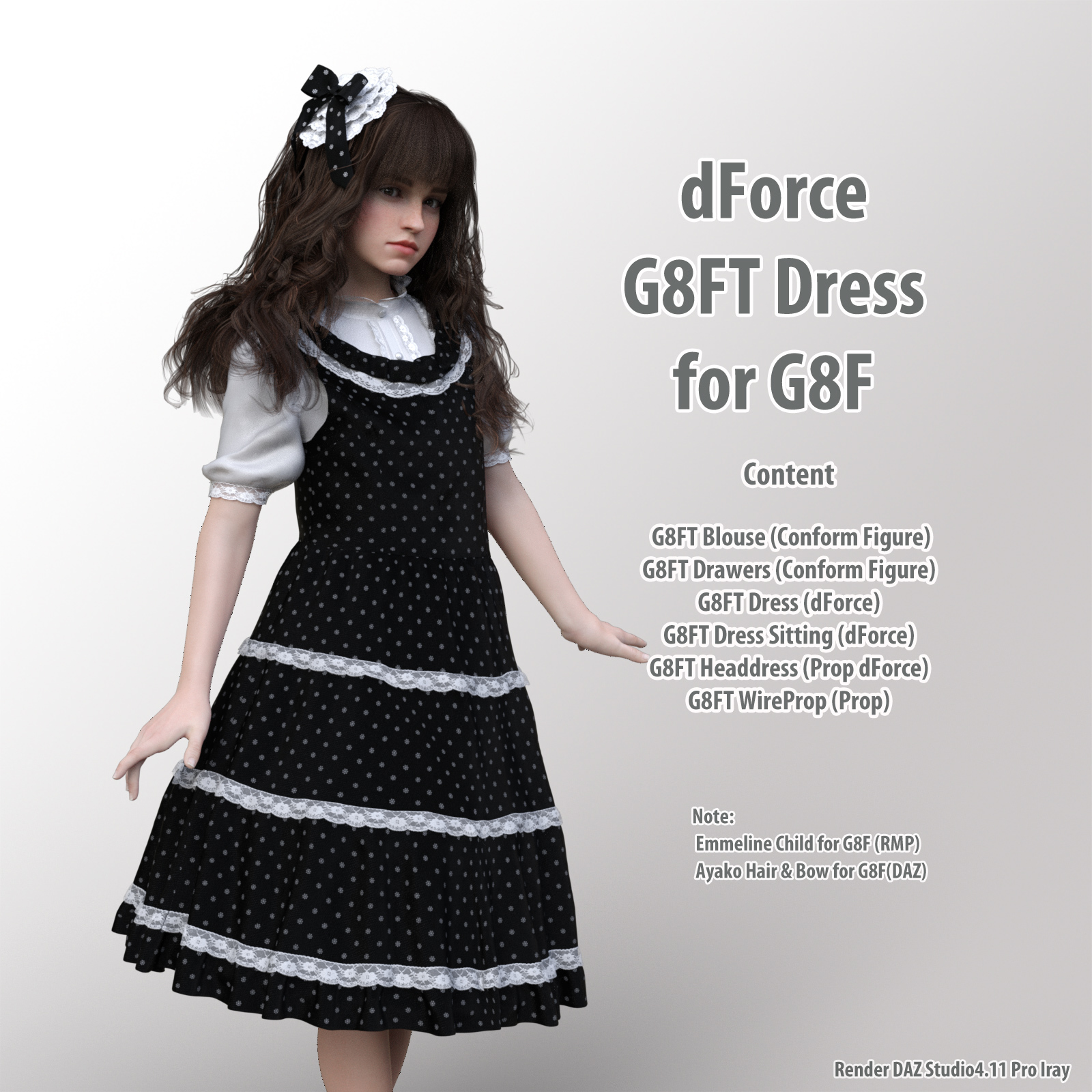dForce G8FT Dress for G8F by kobamax
