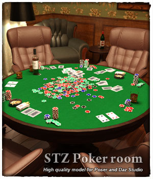 STZ Poker room 3D Models santuziy78