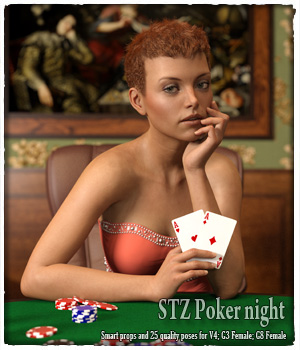STZ Poker night 3D Figure Assets santuziy78