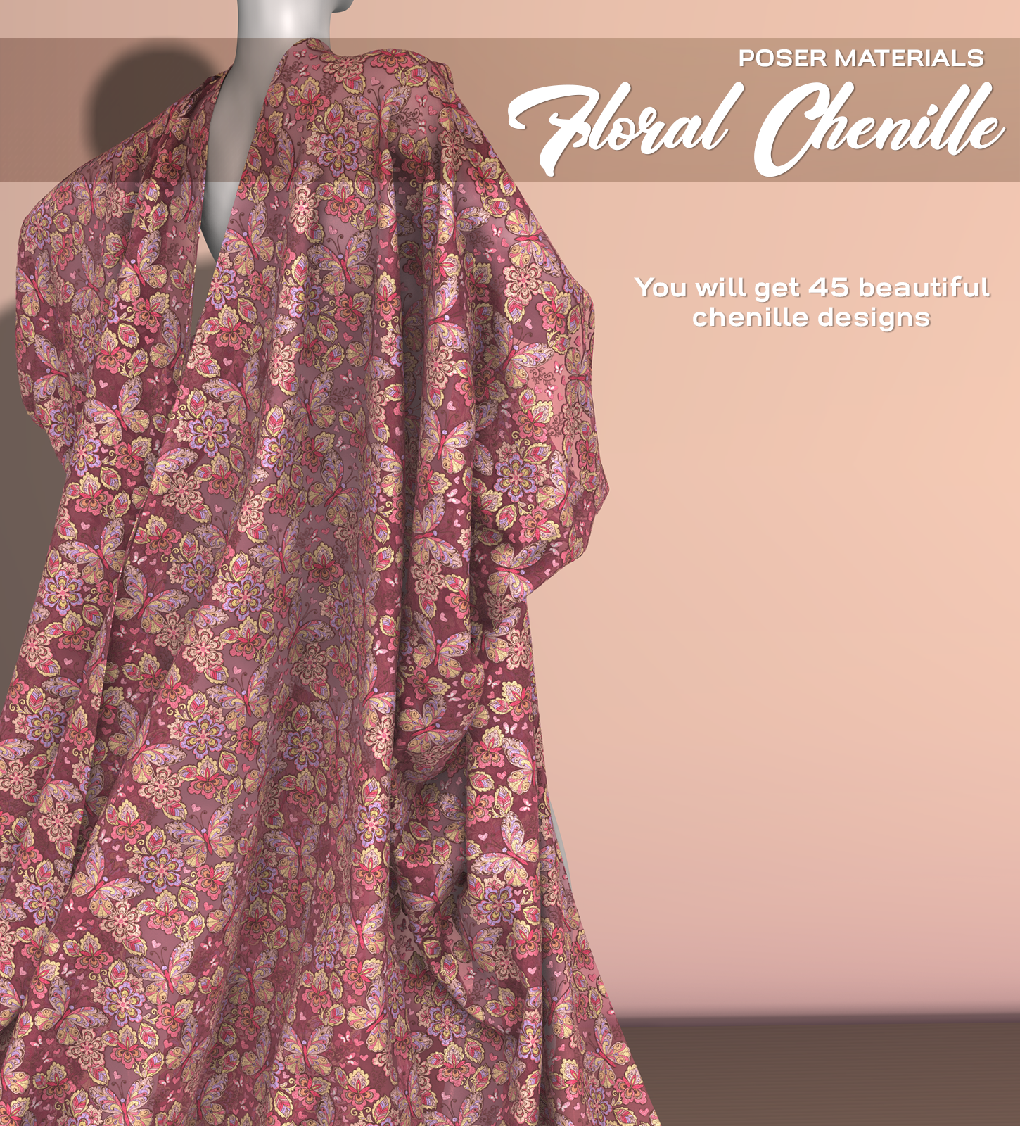 Poser - Floral Chenille by Atenais