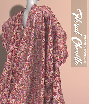 Poser - Floral Chenille 2D Graphics Merchant Resources Atenais