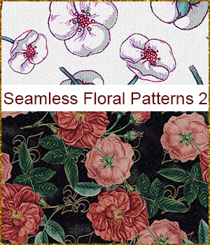 Seamless Floral Patterns 2 2D Graphics Merchant Resources antje