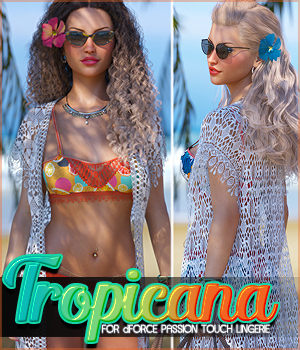 Tropicana for dForce Passion Touch Lingerie G8F 3D Figure Assets Sveva