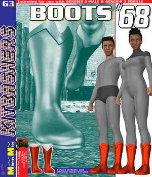 Boots 068 MMKBG3 3D Figure Assets MightyMite