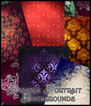 Damask Portrait Backgrounds 2D Graphics antje