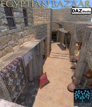 Egyptian Bazaar for Daz 3D Models BlueTreeStudio