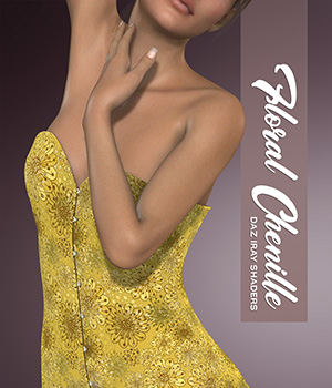Daz Iray - Floral Chenille 2D Graphics Merchant Resources Atenais