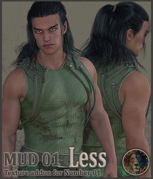 Mud 01 Less for Lyones Number 1 3D Figure Assets Lyone