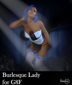 Burlesque Lady for G8F 3D Figure Assets biala