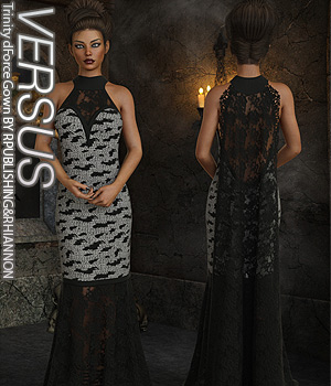 VERSUS - Trinity dForce Gown 3D Figure Assets Anagord