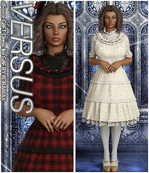 VERSUS - dForce G8FT Dress for G8F 3D Figure Assets Anagord