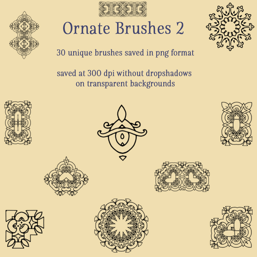 Ornate Brushes and PNGs 2