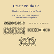 Ornate Brushes and PNGs 2 image 1