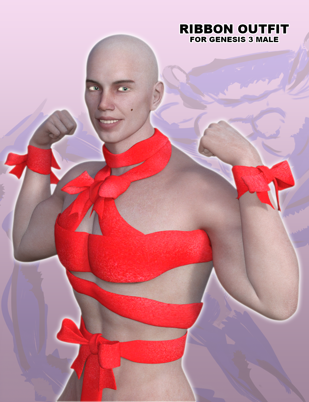 Ribbon Outfit for Genesis 3 Male