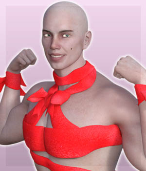 Ribbon Outfit for Genesis 3 Male 3D Figure Assets guaiamustudio