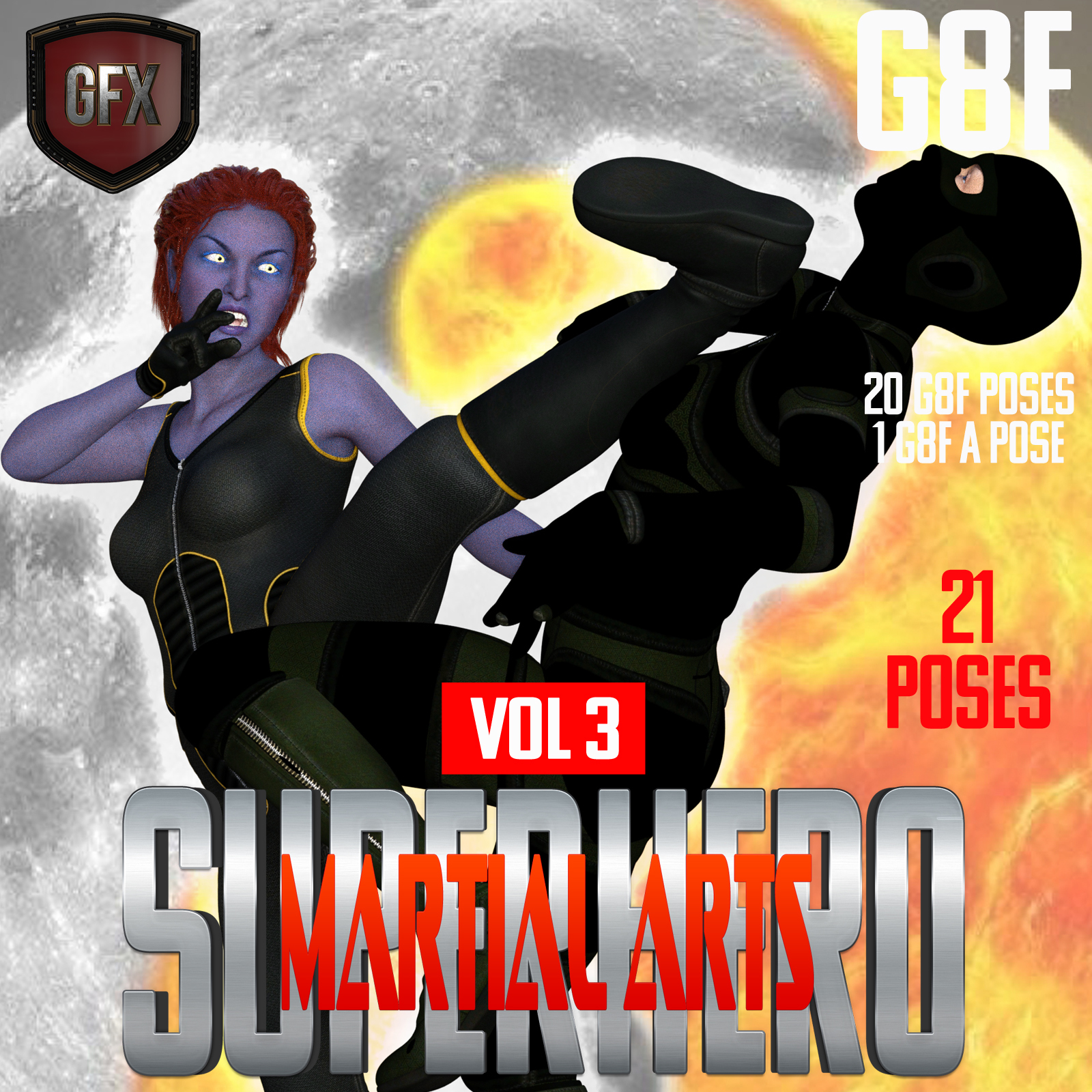 SuperHero Martial Arts for G8F Volume 3 by GriffinFX