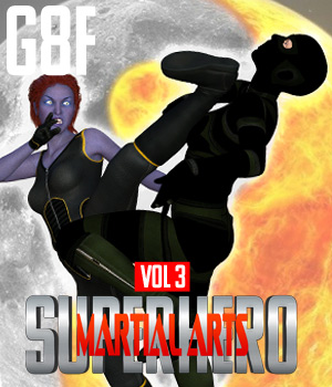 SuperHero Martial Arts for G8F Volume 3 3D Figure Assets GriffinFX