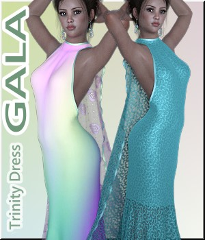 Gala- Trinity-Dress 3D Figure Assets LUNA3D