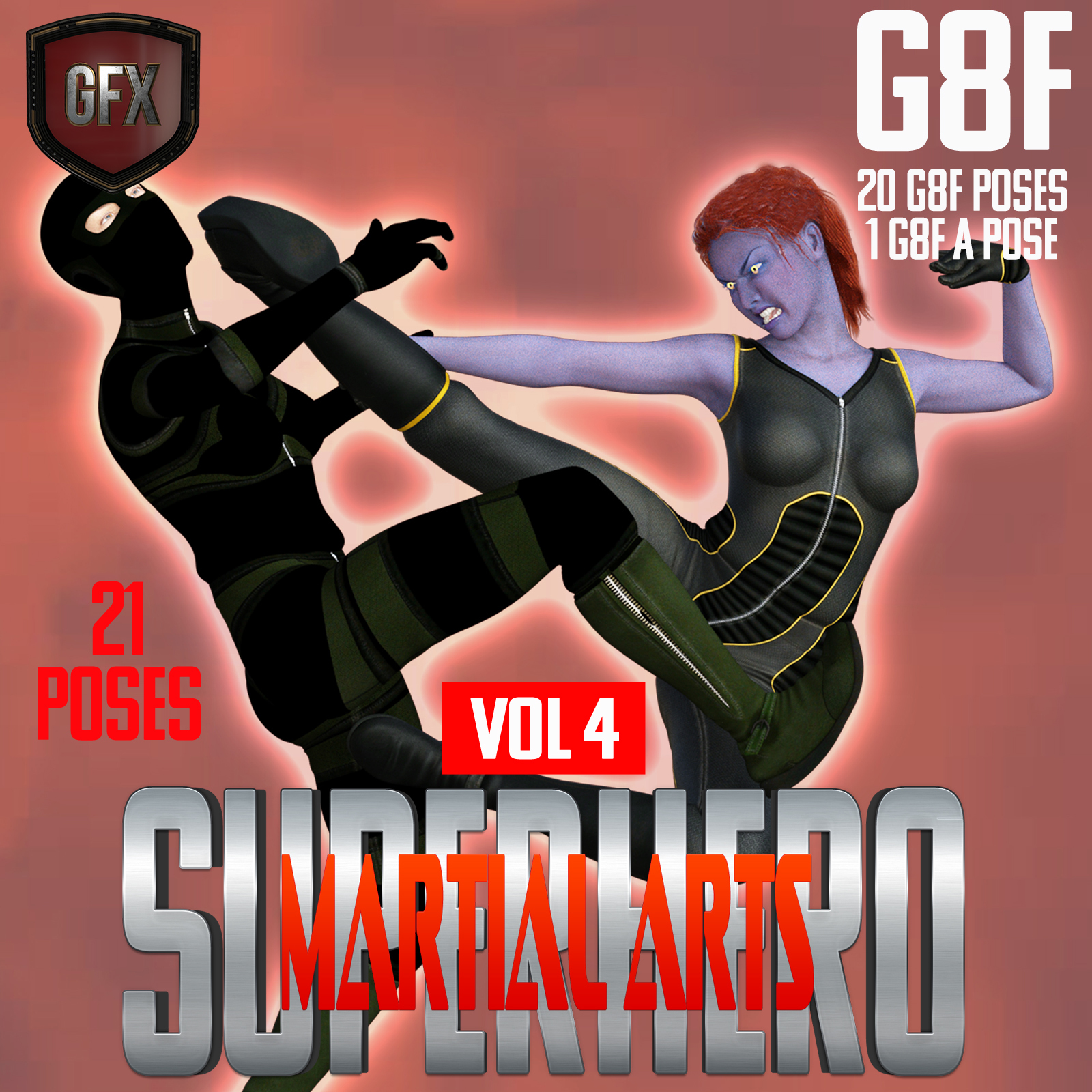 SuperHero Martial Arts for G8F Volume 4 by GriffinFX