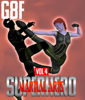 SuperHero Martial Arts for G8F Volume 4 3D Figure Assets GriffinFX