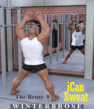 iCan SWEAT Poses for The Brute 8 in Daz Studio 3D Figure Assets Winterbrose