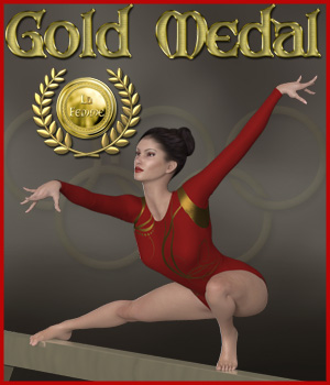 Gold Medal for La Femme 3D Figure Assets La Femme Female Poser Figure RPublishing