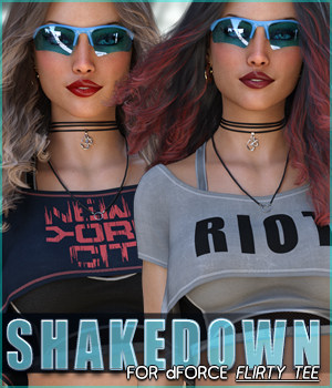 Shakedown for dForce Flirty Tee G8F 3D Figure Assets Sveva