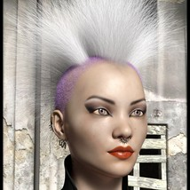 PunkyGirls Hairs for Genesis 8 Female image 3