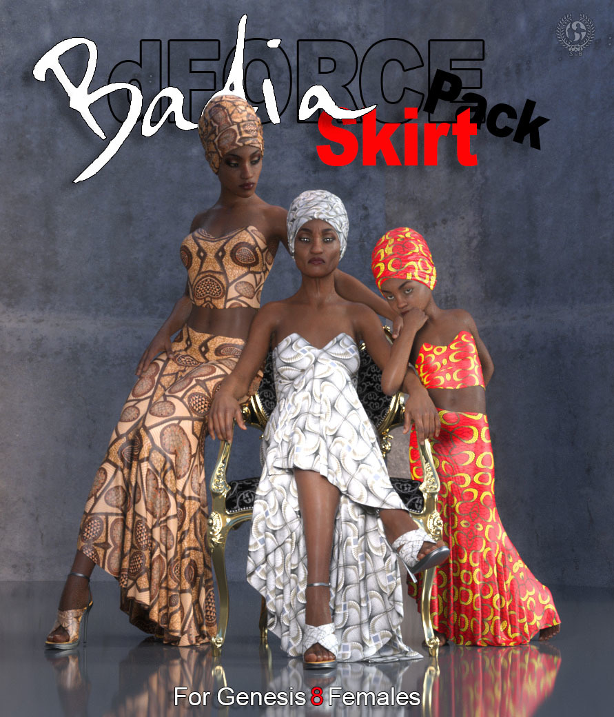 dForce-Badia Skirt Pack For Genesis 8 Females