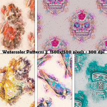 Seamless Watercolor Patterns 2 image 1