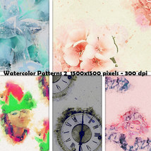 Seamless Watercolor Patterns 2 image 2