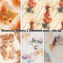 Seamless Watercolor Patterns 2 image 3