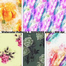 Seamless Watercolor Patterns 2 image 4