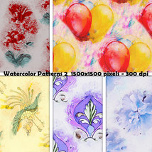 Seamless Watercolor Patterns 2 image 5