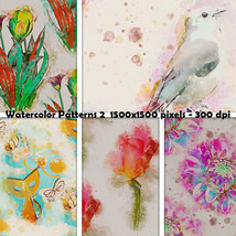 Seamless Watercolor Patterns 2 image 7