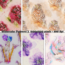 Seamless Watercolor Patterns 2 image 8