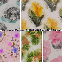 Seamless Watercolor Patterns 2 image 9
