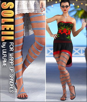 Soleil for Wrap Up Sandals G8F 3D Figure Assets Sveva